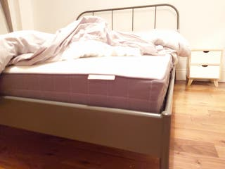 King size bed with 2 bedside table
