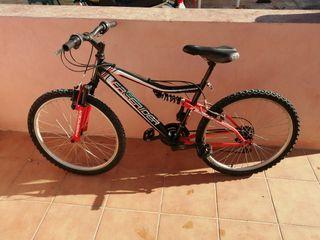 "Bicicleta de montaña ""freerider""de 24 pulgadas"