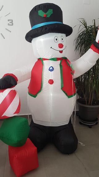 Muñeco de nieve hinchable 1.80 m.