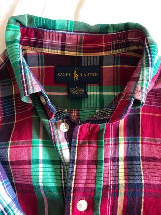 Lote dos comisas Polo Ralph Lauren NIÑO 5y6