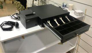 Cajóncaudales + impresora térmica tickets + lector