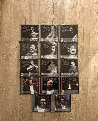 CD María Callas y Pavarotti