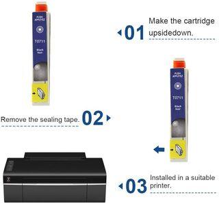 Cartuchos T0711 0712 0713 0714 para Epson Stylus