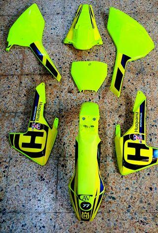kit plasticos husqvarna amarillo fluor 16-19