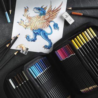 72 lápices de colores en estuche con cremallera