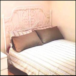 Luxury Metal bed frame and mattress King size.
