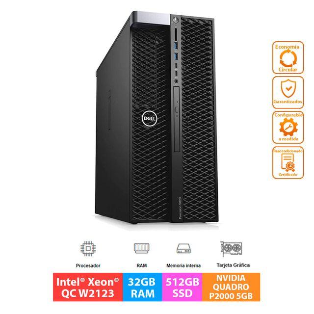 Dell Precision T5820 - Xeon W2123 - 32GB - 512GB