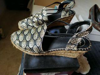 zapatos de esparto cuña