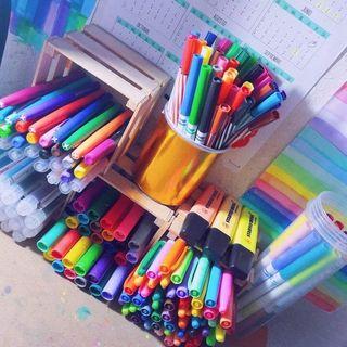 Rotuladores, lapices de colores, ceras