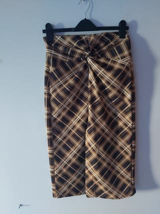 Falda cuadros Pull&Bear