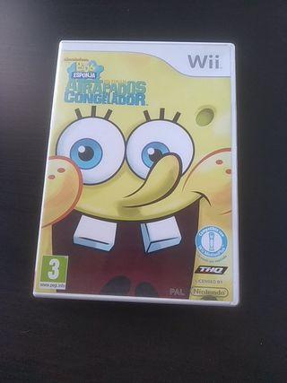 Juego Wii Bob Esponja