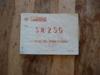 Manual del propietario Yamaha Sr 250 Special