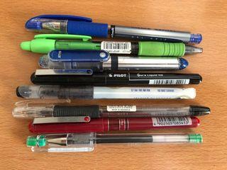 Bolígrafos Pilot diferentes colores