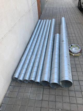 Tubo chapa galvanizada para conducciones de aire