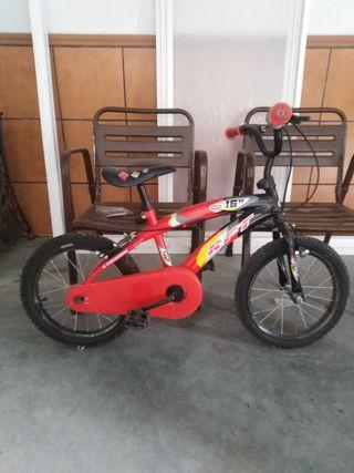 bicicleta de 16 pulgadas