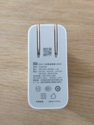 Cargador USB-C ordenador portatil Xiaomi Notebook