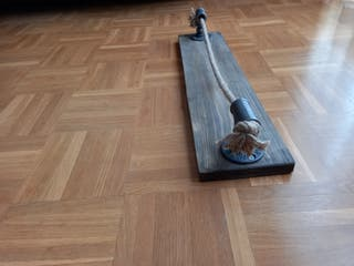 Toallero madera y cuerda