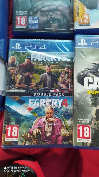 Consola PS4 + 4 juegos.