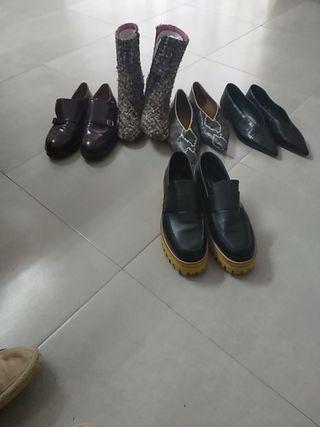 lote de zapatos para mujer numero 39 y 40