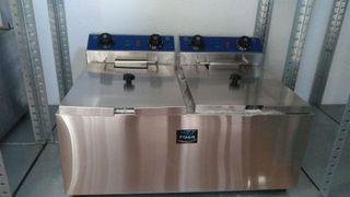 freidora industrial electrica doble 10+10 litros