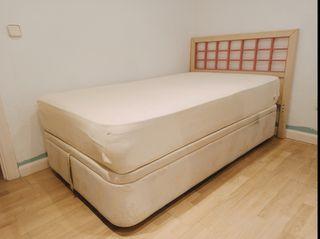 cama: colchon, canapé abatible y cabecero