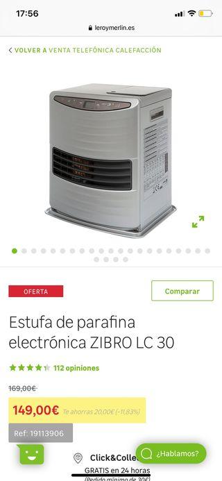Estufa de parafina electrónica + carrito