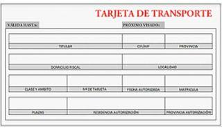 TARJETA DE TRANSPORTE MDL 2006