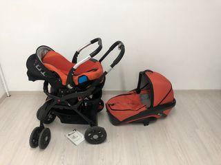 Trio carrito , maxicosi, capazo y silla paseo
