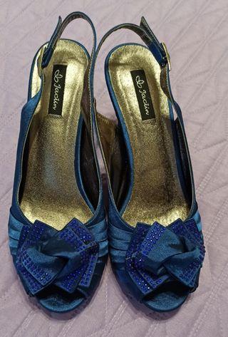 Zapatos fiesta tacón