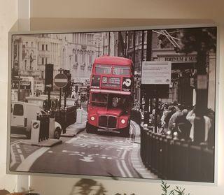 Cuadro Londres autobús. Ikea