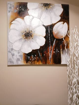 Cuadro de flores decorativo