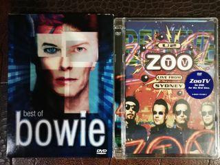 lote DVDs, David Bowie y U2