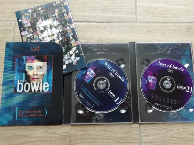 lote DVDs, David Bowie y U2