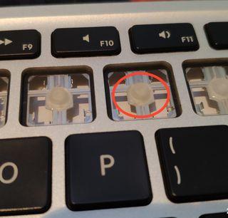 pulsador de silicona para MacBook