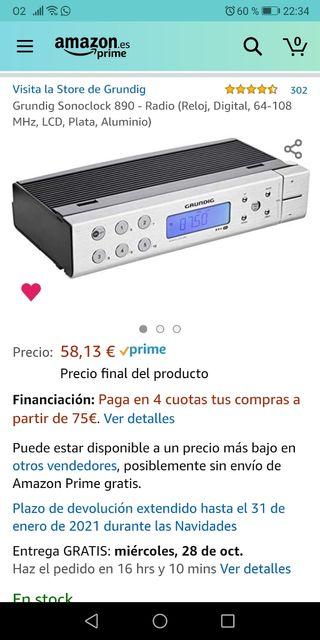 radio despertador cocina