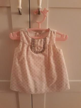 vestido bebe talla 6 meses
