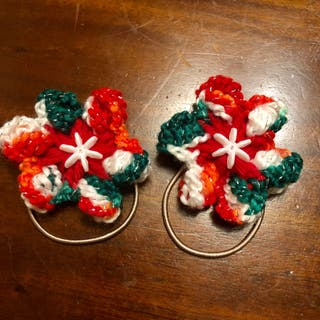 Handmade New Christmas Crochet Hair Tie