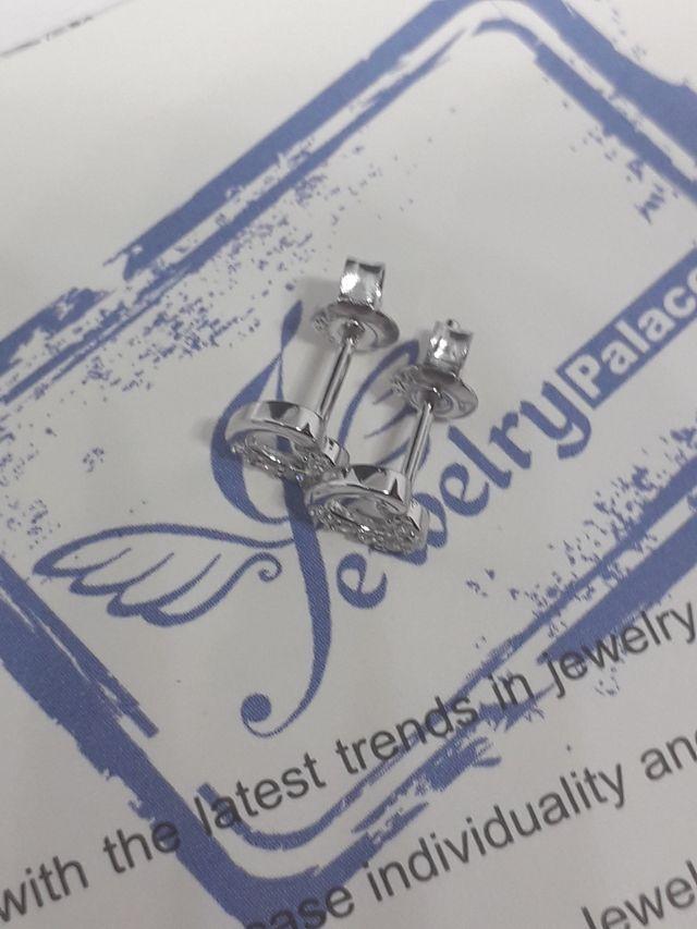 Heart Cubic Zirconia Stud Earrings 925S.S