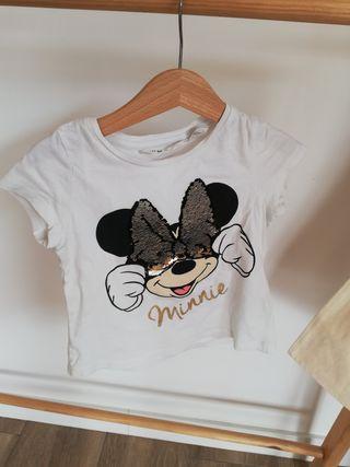 Camiseta Minnie blanca manga corta