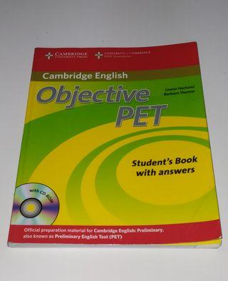 Objetive Pet Cambridge con CD Libro inglés B1