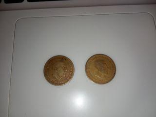 Antigua moneda de 1 peseta de Francisco Franco