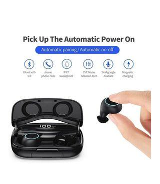 auriculares inalámbricos bluetooth y power bank