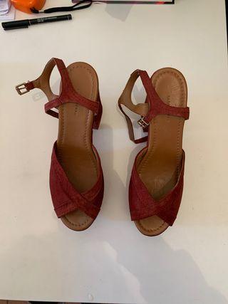 Zapatos de tacón alto ancho Zara talla 40