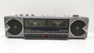 Radio Cassette Vintage HITACHI TRK-W4W R 104606