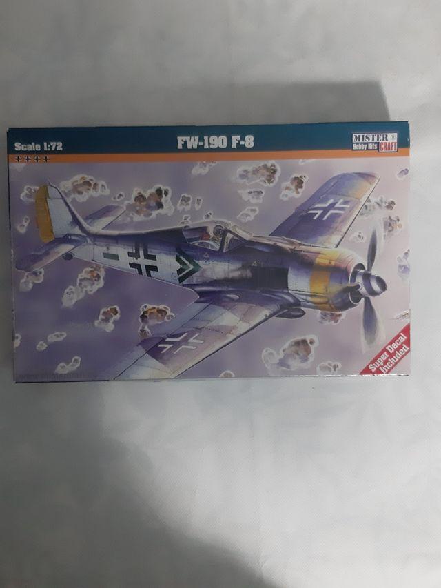lote 8 maquetas de aviones 1/72