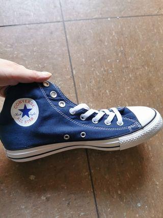 zapato tenis azul