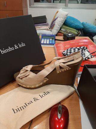 sandalias rosas Bimba y Lola