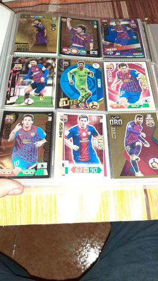 Lote cromos de Messi adrenalyn este fifa mgk