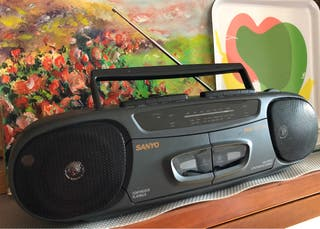 SANYO Stereo radio double cassette recorder