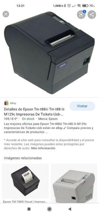 Impresora Tickets Epson T-88 III USB